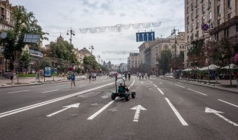 Khreshchatyk on a Sunday afternoon when closed to traffic