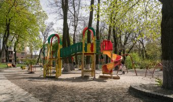Children's playground in Mariinsky Park, Kiev.