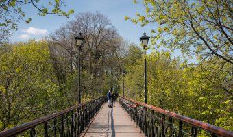 Bridge between City Garden and Khreshchatyk Park in Kiev.