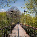 Lovers Bridge in City Garden park, Kiev, Ukraine