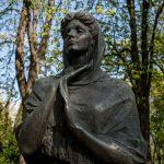 Statue of Ukrainian author Lesya Ukrainka in City Garden park, Kiev