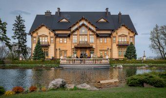 The former home of Viktor Yanukovych at Mezhyhirya National Park.