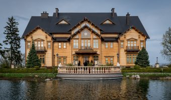 The former home of Viktor Yanukovych at Mezhyhirya National Park. It is named Honka after the Finnish company that built it.