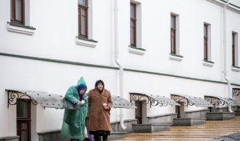 Babushkas near the entrance to the Lower Lavra at Kiev Pechersk Lavra