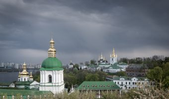 View of Lower Lavra at Kiev Pechersk Lavra and Dnieper River