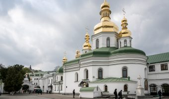 Holy Cross Church and entrance to the Near Caves at Kiev Pechersk Lavra