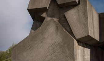 Soviet concrete star at National Museum Of The History Of Ukraine In The Second World War