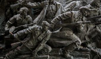 Soviet Second World War memorial in Kiev, Ukraine