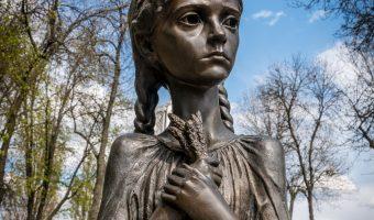Statue Bitter Memory of Childhood in the Park of Eternal Glory, Kiev, Ukraine