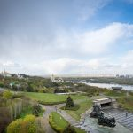 View from Landscape observation deck of the Motherland Monument in Kiev, Ukraine