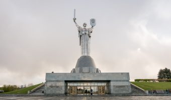 Motherland Monument (Rodina Mat) in Kiev, Ukraine