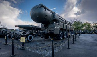 Soviet RSD-10 Pioneer intermediate-range ballistic missile with a nuclear warhead