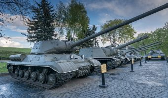 Soviet IS-1 tank (1943) on display at the National Museum of the History of Ukraine in the Second World War in Kiev.