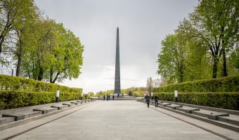 Glory Obelisk at the Park of Eternal Glory in Kiev, Ukraine