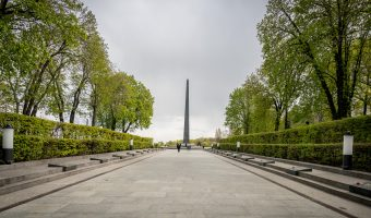 Glory Obelisk and Tomb of the Unknown Soldier at the Park of Eternal Glory in Kiev
