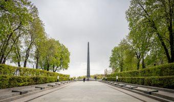 Glory Obelisk in Park Vichnoyi Slavy, Kiev