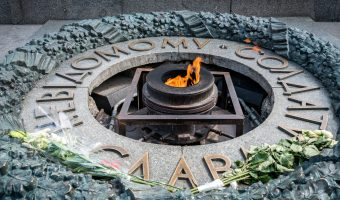 Eternal Flame at the Tomb of the Unknown Soldier, Park of Eternal Glory in Kiev, Ukraine
