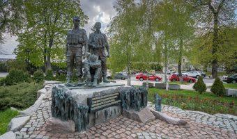 War memorial in Kiev to honour the soldiers that died in the Soviet-Afghan War (1979 - 1989).