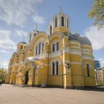 View of St Volodymyr's Cathedral from the north east entrance.