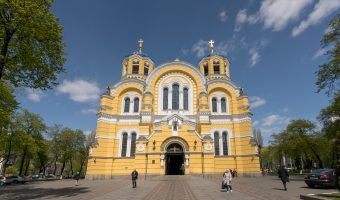 Photograph of St Volodymyr's Cathedral in Kiev, Ukraine.