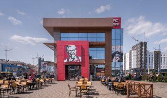 Large KFC restaurant at Kiev Train Station (Southern Station side).