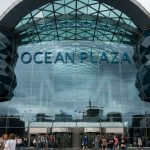 Photo of the entrance to Ocean Plaza, one of the largest shopping malls in Kiev. It opened in 2012 and boasts over 400 stores.
