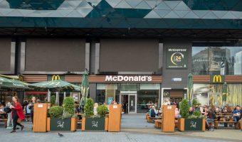 McDonald's restaurant at the Ocean Plaza shopping mall in Kiev, Ukraine.