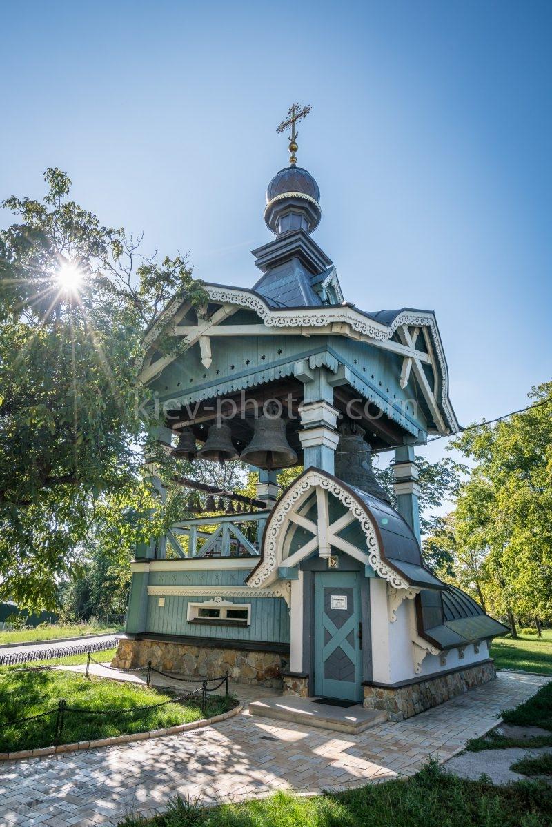 Belfry at the Trinity Monastery of St. Jonas in Kiev, Ukraine