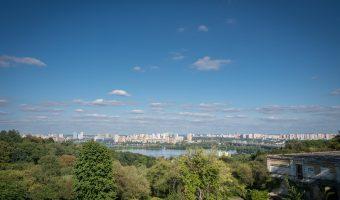 Dnieper River and Left Bank in Kiev, Ukraine