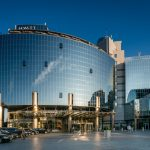 Glass facade of the Hyatt Regency Kiev