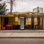 Empty bar at Hydropark (Hidropark) in Kiev, Ukraine