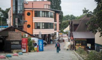 Restaurants and bars at Hydropark (Hidropark) in Kiev, Ukraine