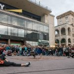 Breakdancers near Khreshchatyk Metro Station