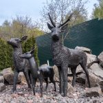 Statues of animals at the zoo at Mezhyhirya, the former estate of Viktor Yanukovych, ex-President of Ukraine.