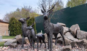 Statues of animals at the zoo at Mezhyhirya, the former estate of Viktor Yanukovych, ex-President of Ukraine.