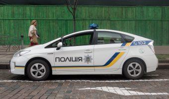 Photo of a Ukrainian police patrol car.