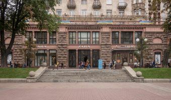 Zara clothes store in Kiev, Ukraine