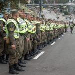 Ukrainian army in Kiev city centre