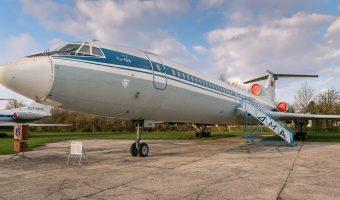 Tupolev Tu-154 passenger airliner at the Ukraine State Aviation Museum in Kiev.