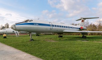 Tupolev Tu-134A passenger airliner at the Ukraine State Aviation Museum in Kiev.