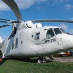 Mil Mi-26 heavy transport helicopter at the Ukraine State Aviation Museum in Kiev. The Mi-26 is one of the world's most powerful helicopters.