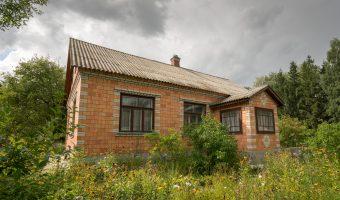 Post-war Ukrainian house at Pyrohiv.