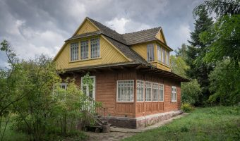 1960s house from Ivano-Frankivsk region of Ukraine. Situated at the Pyrohiv (Pirogov) Museum of Folk Architecture and Everyday Life in Kiev, Ukraine.