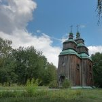 18th century wooden church from Cherkasy region of Ukraine.