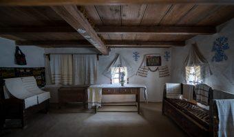 Interior of peasant house from Bukovina