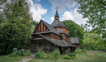 Early 19th century wooden church from Ternopil region of Ukraine.