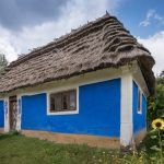 House from Podolia region. Located at Pyrohiv Museum of Folk Architecture and Everyday Life.