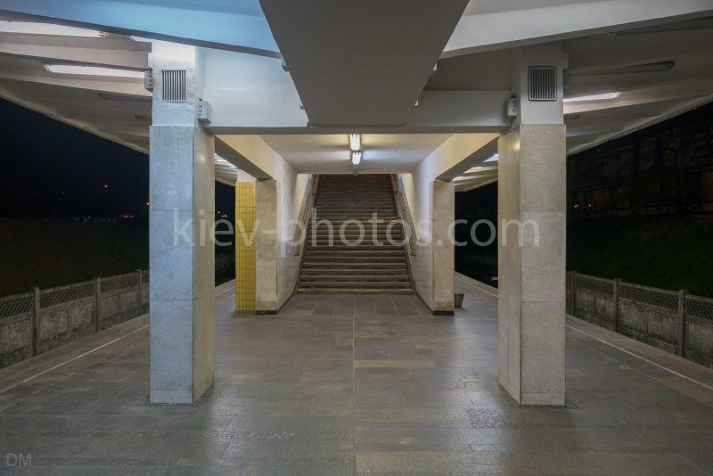 Photograph of stairs at Chernihivska Metro Station in Kiev, Ukraine.