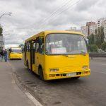 Bus near at Teremky Metro Station in Kiev.