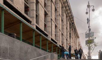 Steps on Khreshchatyk leading to Maidan Nezalezhnosti Metro Station.